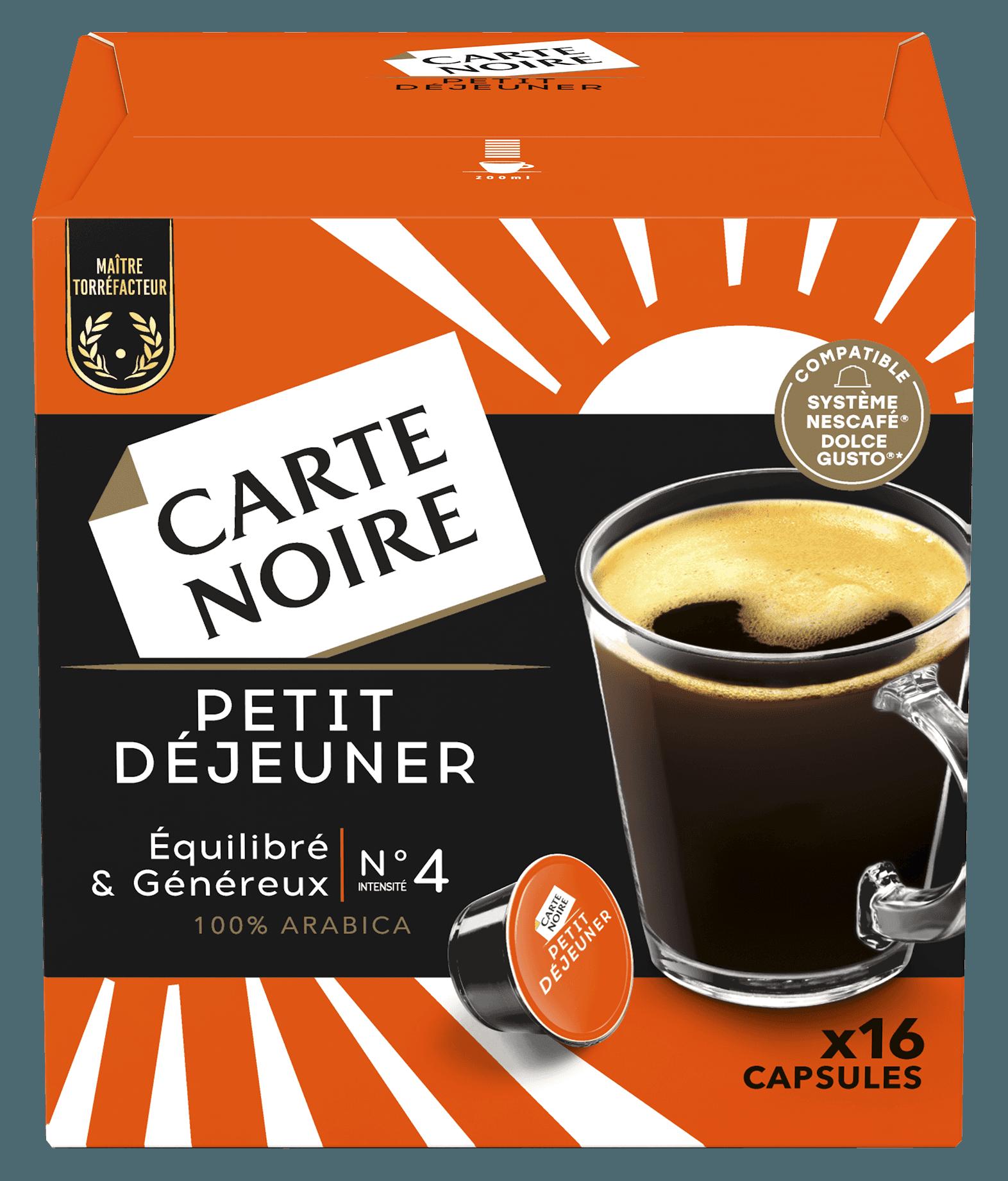 PETIT DEJEUNER x16 - Café torréfié moulu en capsules