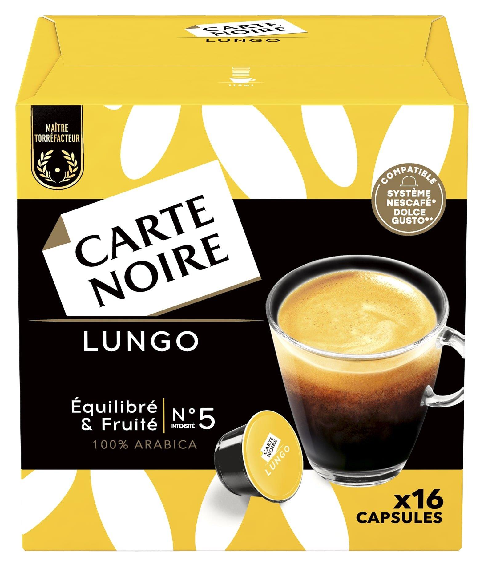 LUNGO x16 - Café torréfié moulu en capsules