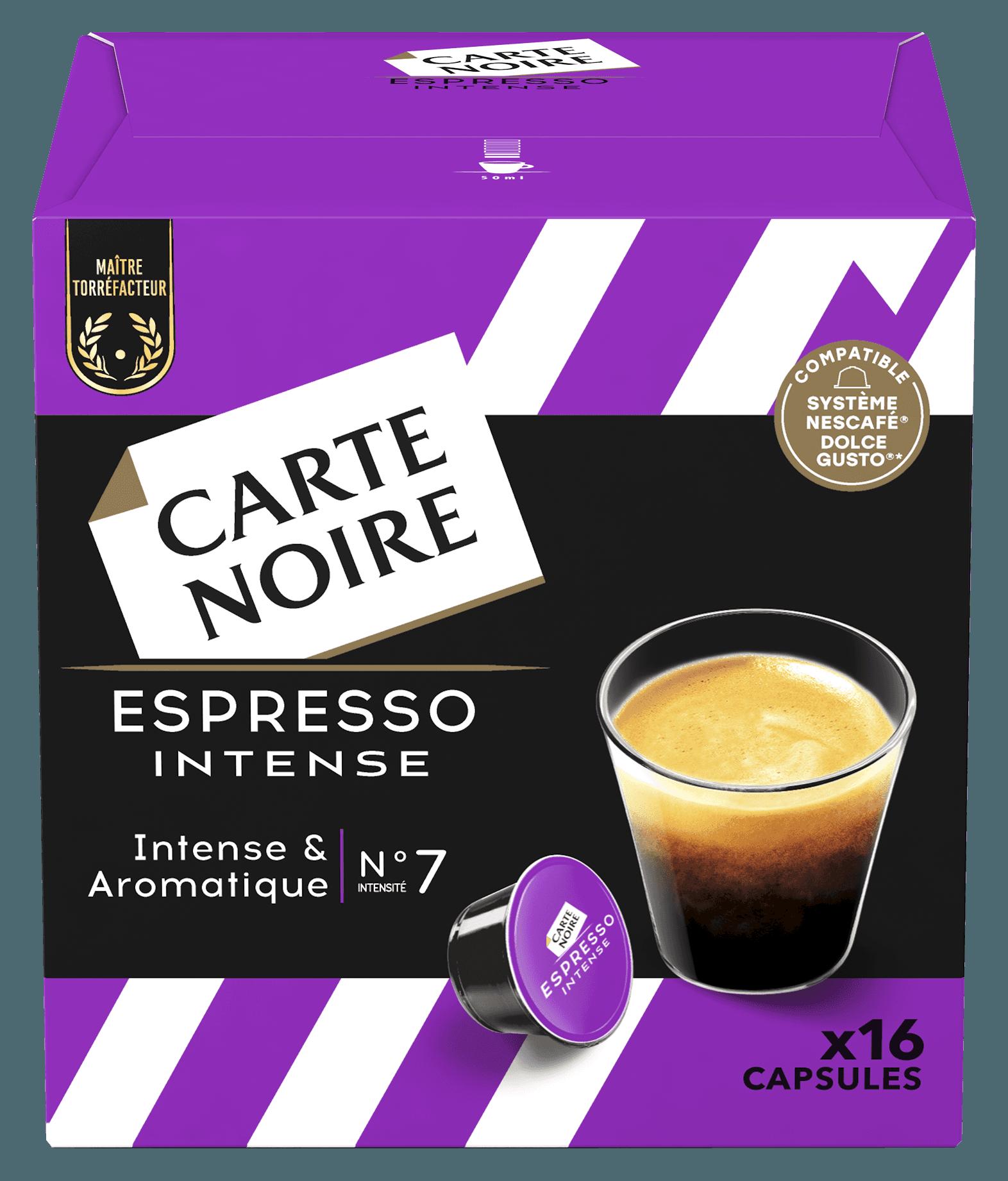 ESPRESSO INTENSE x16 - Café torréfié moulu en capsules