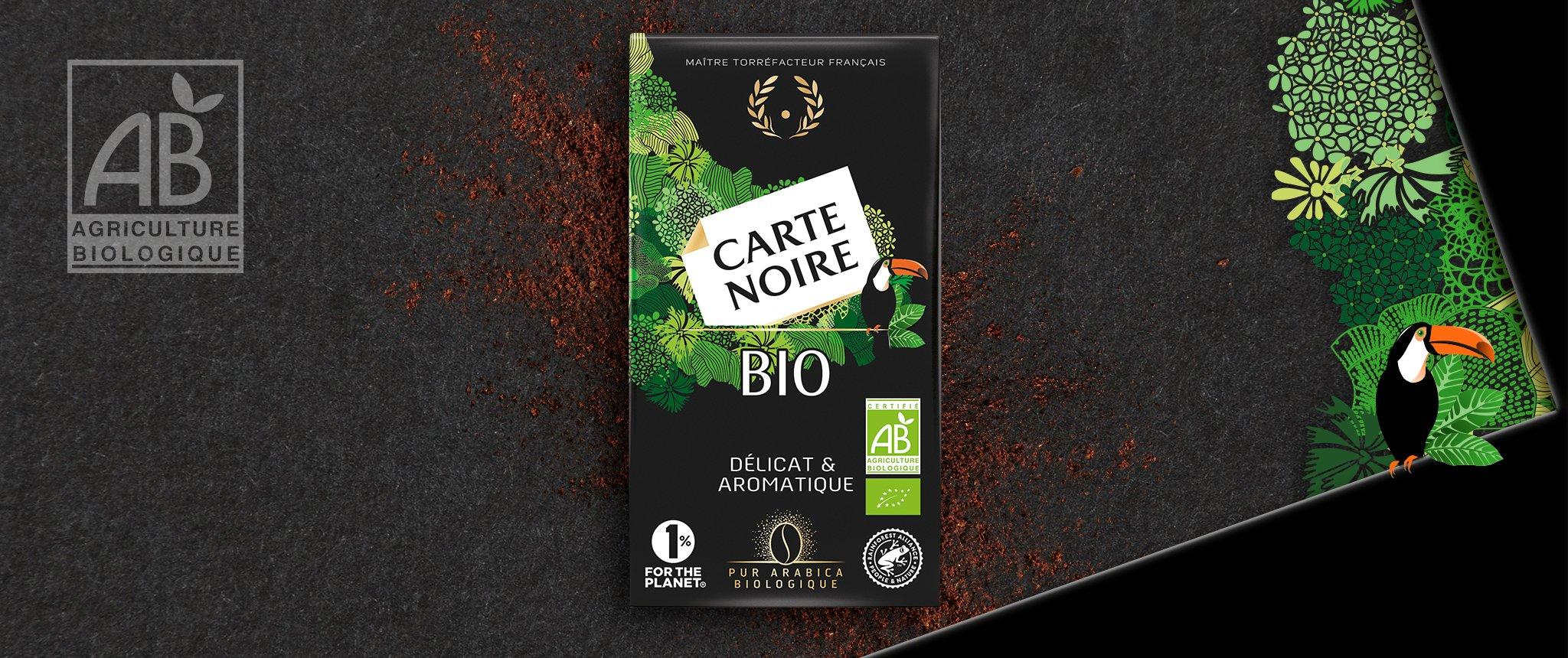 CARTE NOIRE BIO - Café biologique torréfié et moulu
