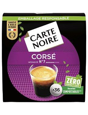 N°7 CORSÉ - Café torréfié moulu en dosettes individuelles souples