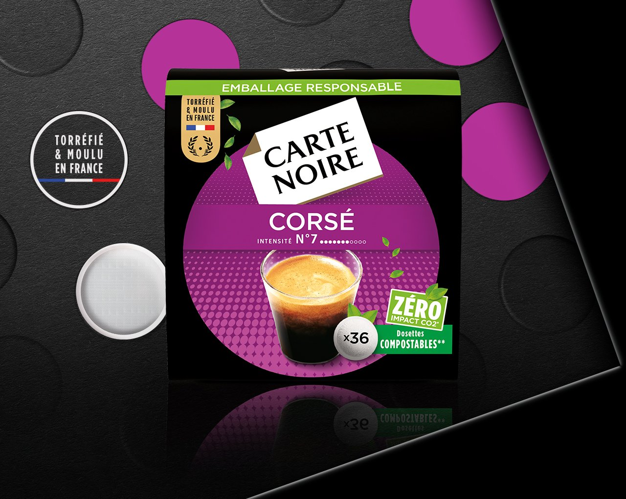 N°6 CORSÉ - Café torréfié moulu en dosettes individuelles souples