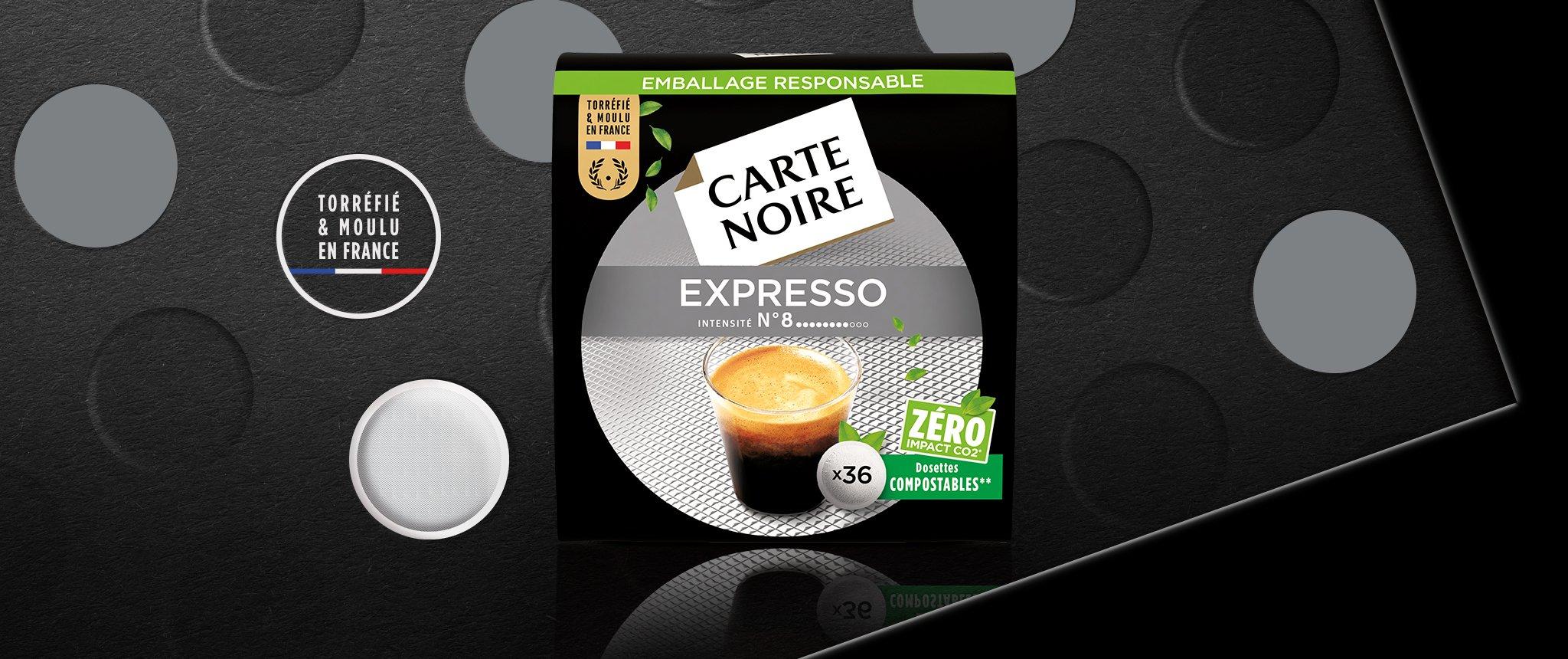 N°8 EXPRESSO CLASSIC - Café torréfié moulu en dosettes individuelles souples