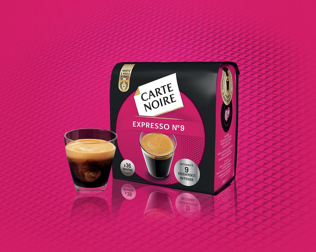 N°9 EXPRESSO INTENSE - Café torréfié moulu en dosettes individuelles souples