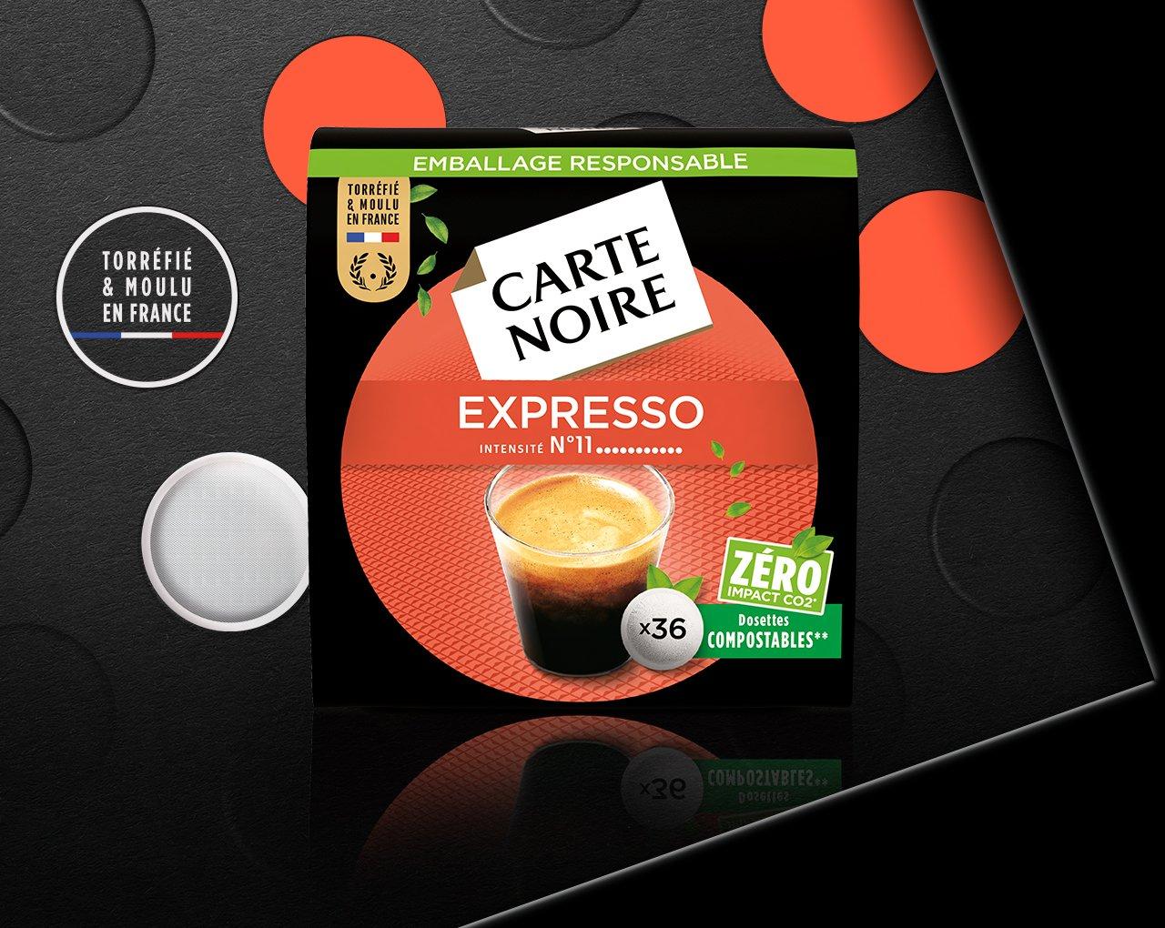 N°11 EXPRESSO PUISSANT - Café torréfié moulu en dosettes individuelles souples