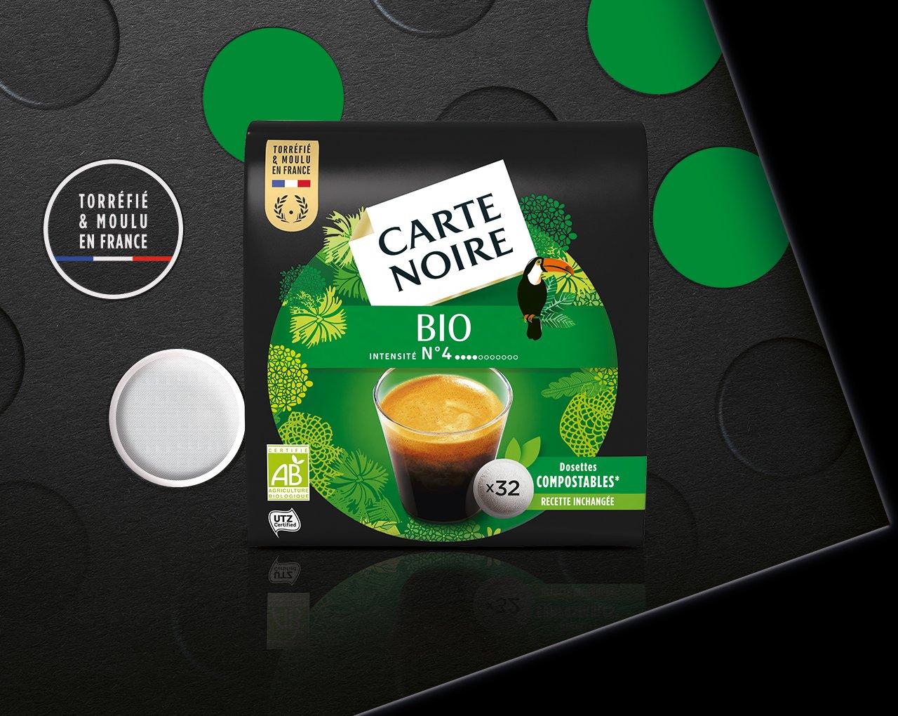 BIO - Café biologique torréfié et moulu en dosettes individuelles souples