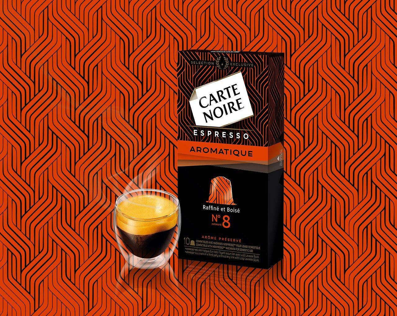 ESPRESSO AROMATIQUE N°8 - Café torréfié moulu en capsules