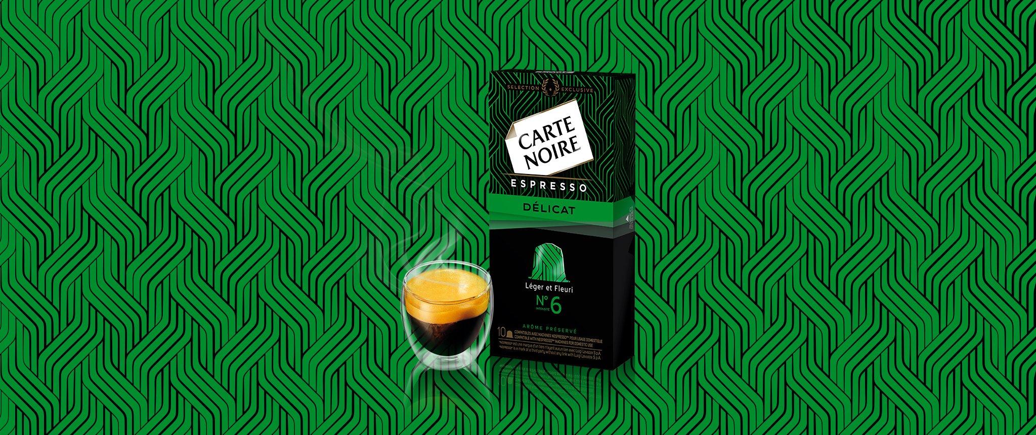 ESPRESSO  DELICAT N°6 - Café torréfié moulu en capsules