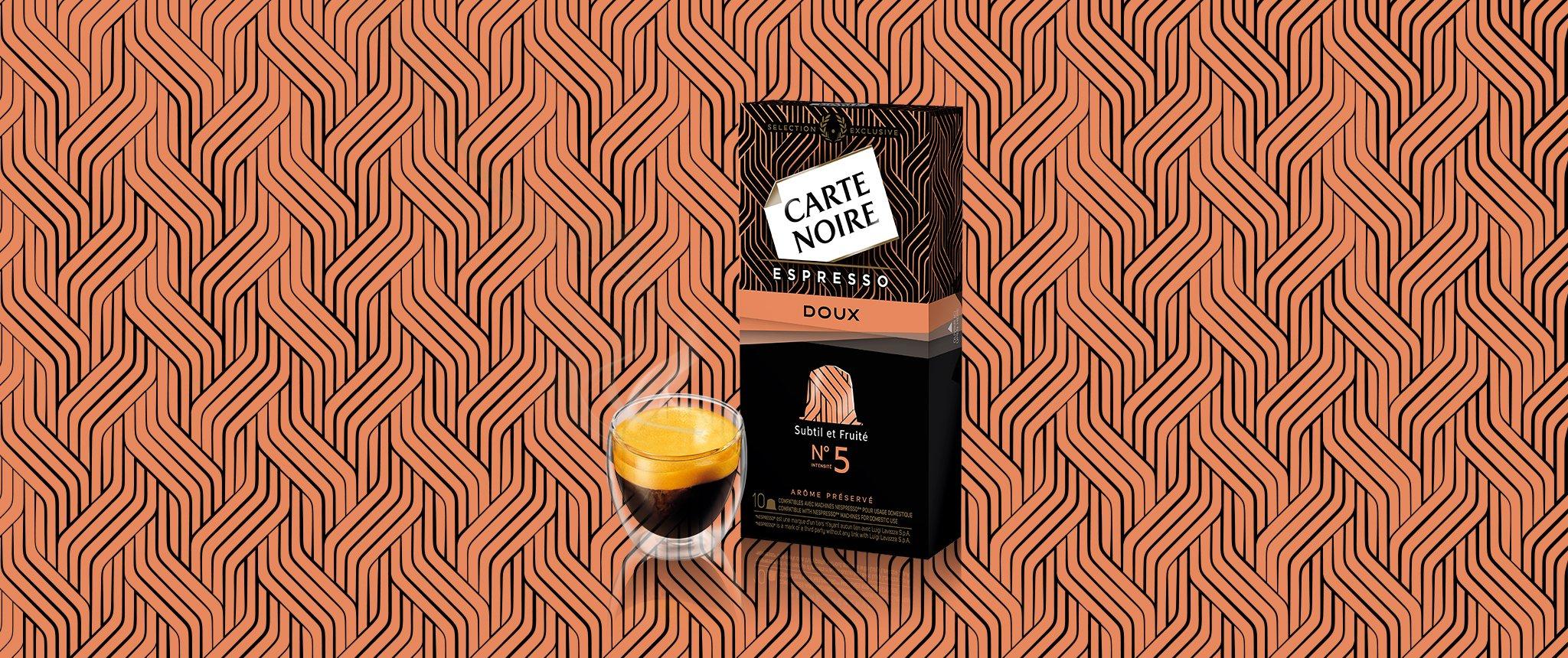 ESPRESSO DOUX N°5 - Café torréfié moulu en capsules