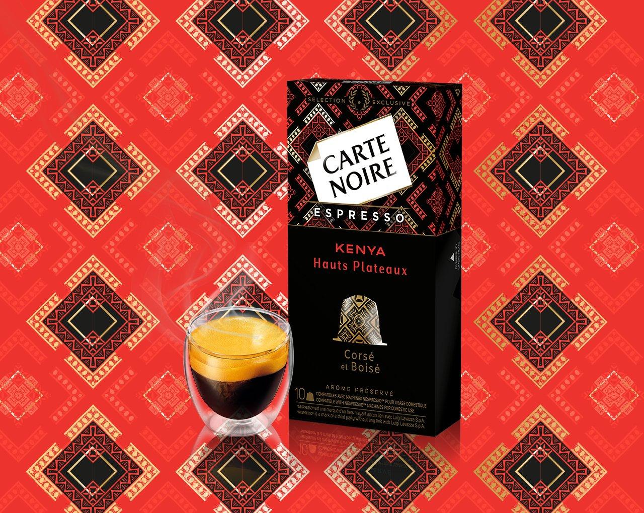 KENYA - Hauts Plateaux - Café torréfié moulu en capsules