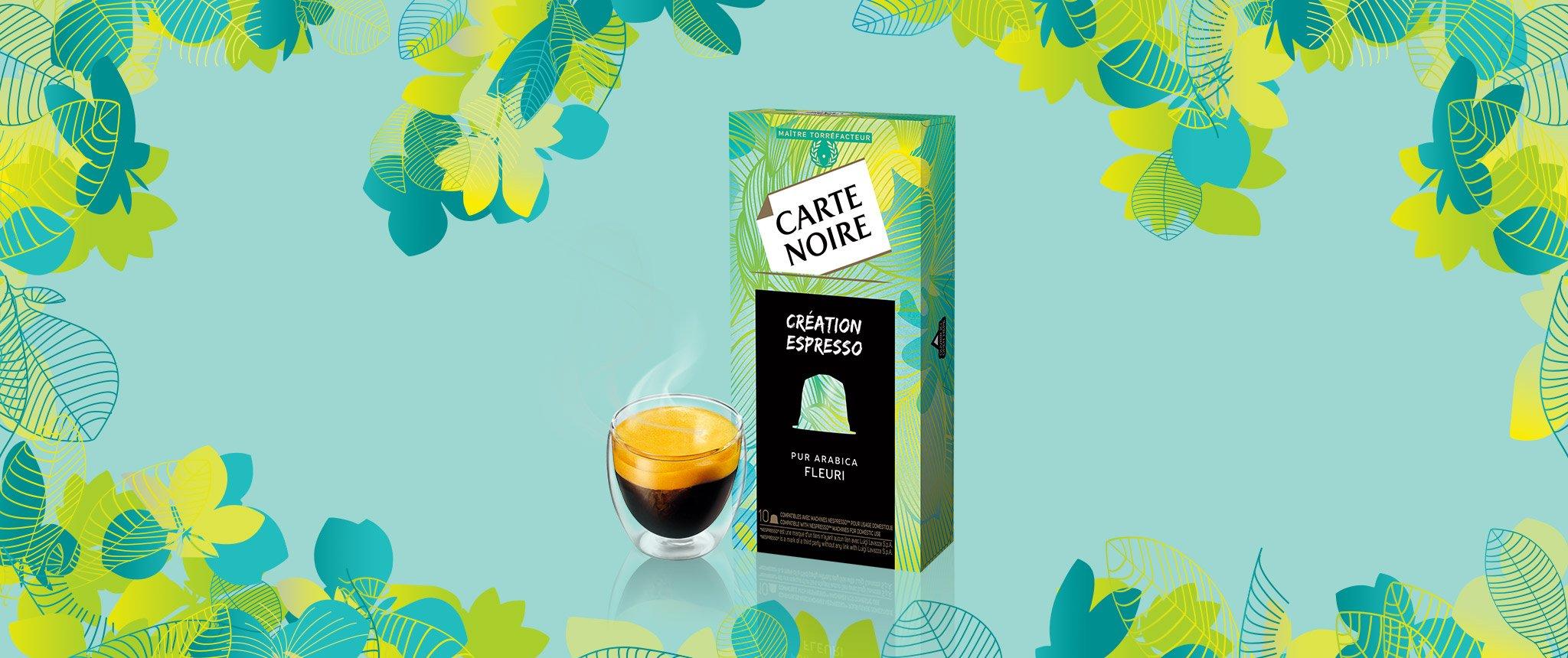CREATION FLEURIE - Café torréfié moulu en capsules