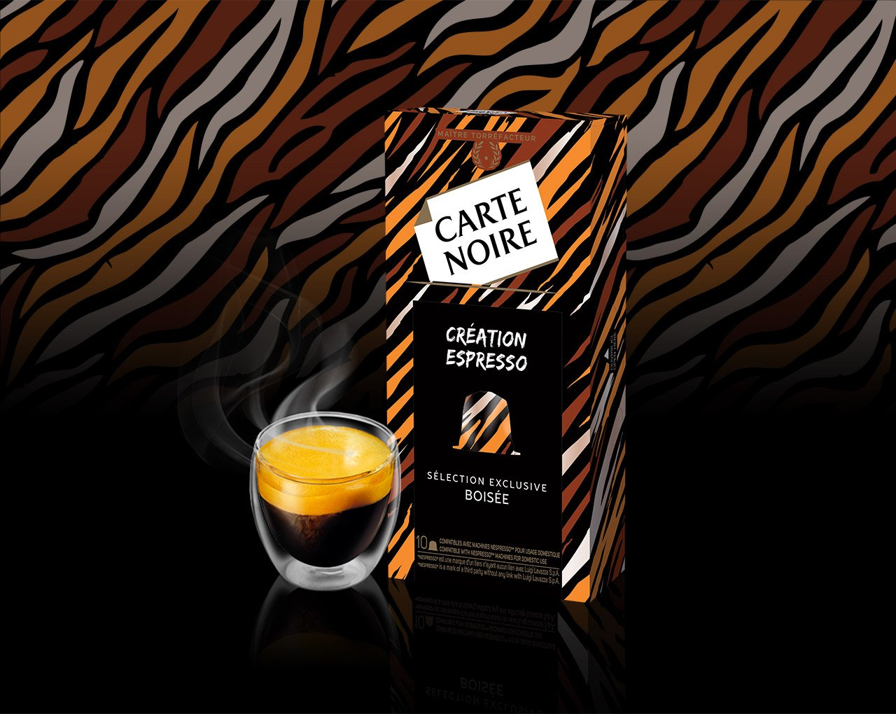 CREATION BOISEE - Café torréfié moulu en capsules