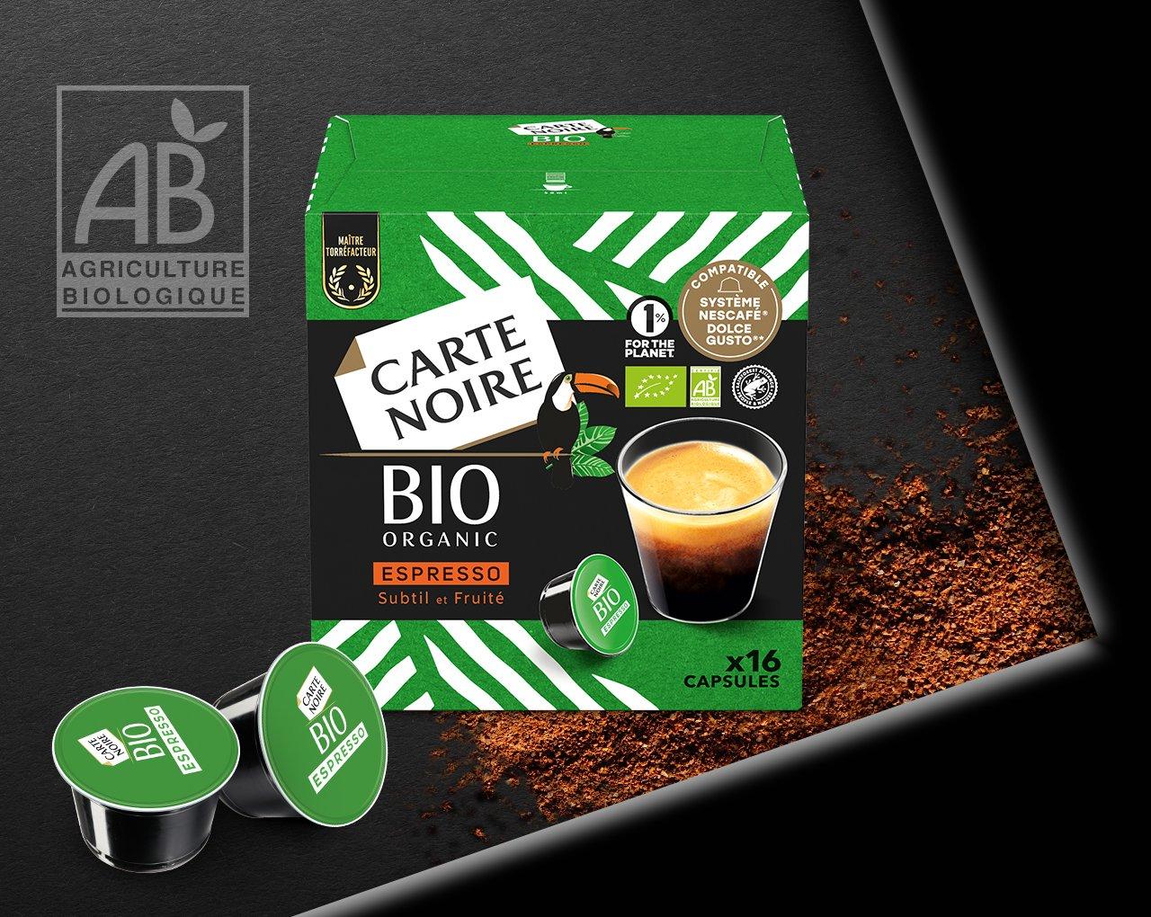 ESPRESSO BIO x16 - Café biologique torréfié et moulu en capsules