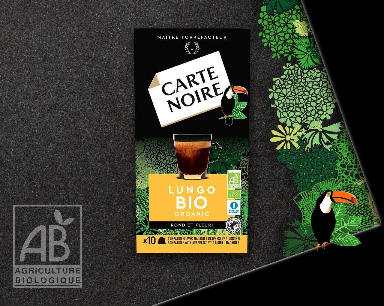 LUNGO BIO - Café biologique torréfié et moulu en capsules