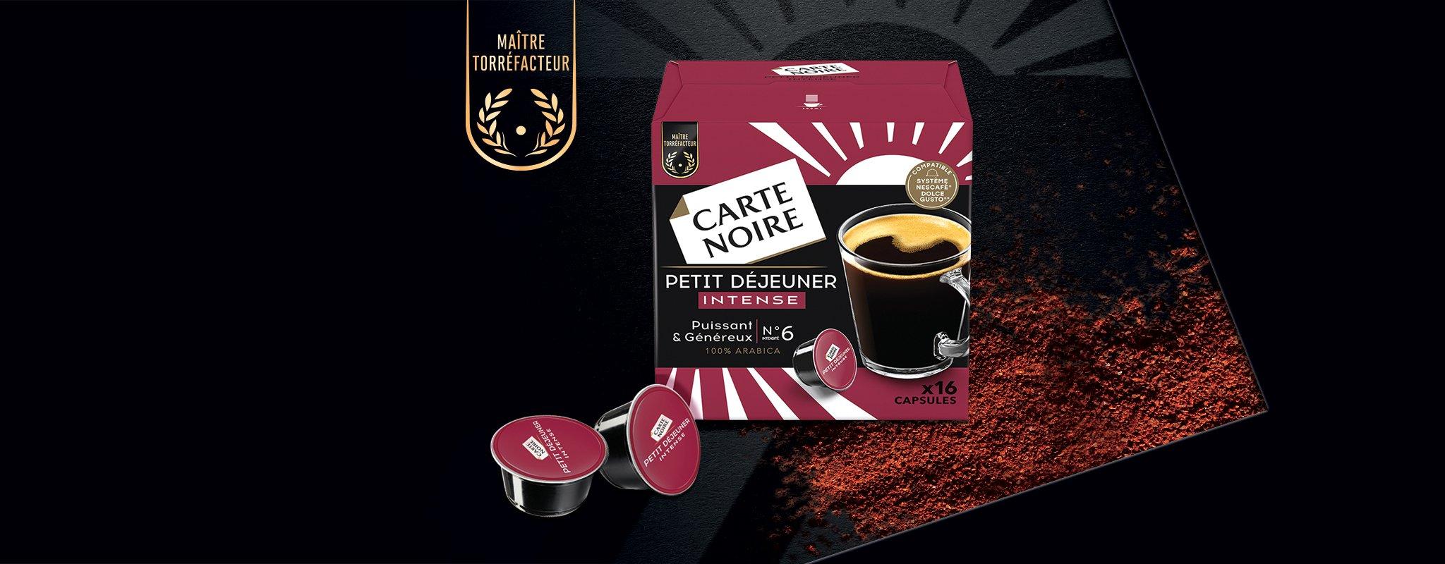 PETIT DEJEUNER INTENSE x16 -  Café torréfié moulu en capsules