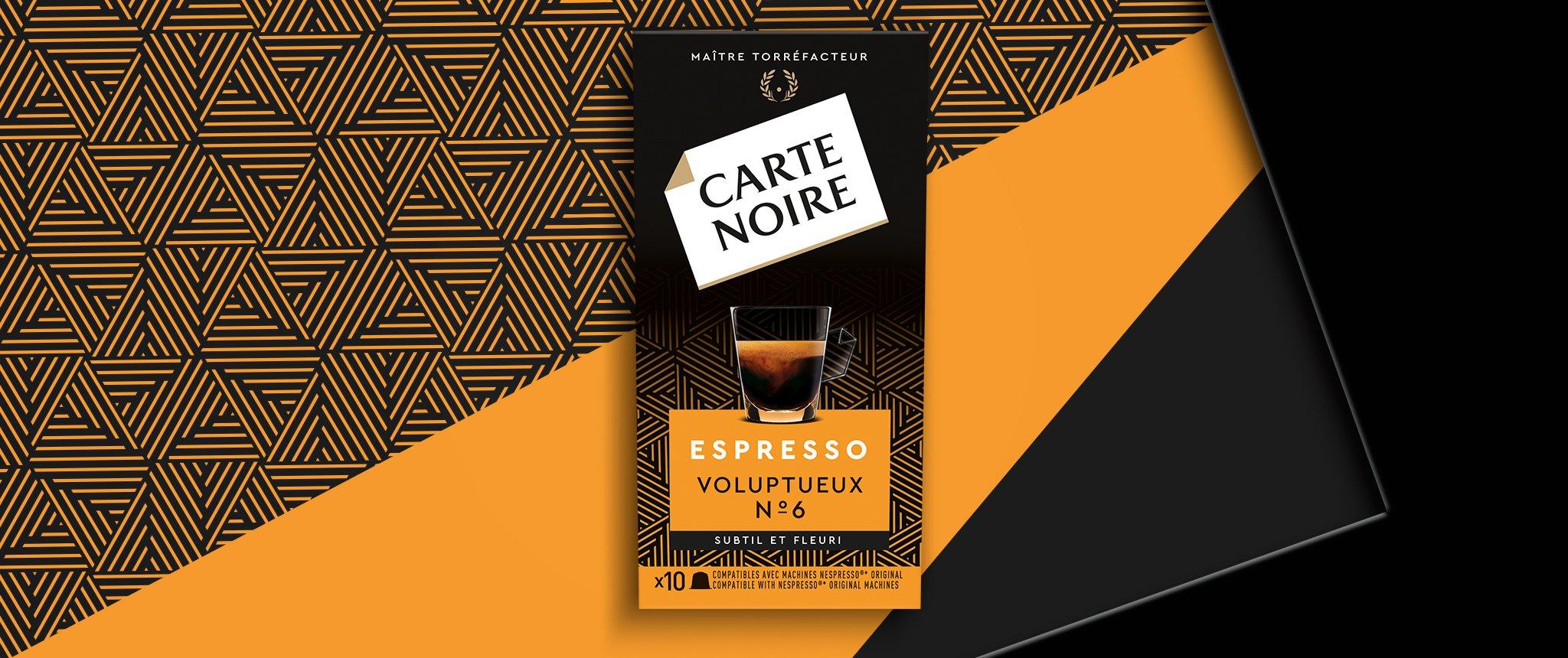 ESPRESSO VOLUPTUEUX N°6 - Café torréfié moulu en capsules