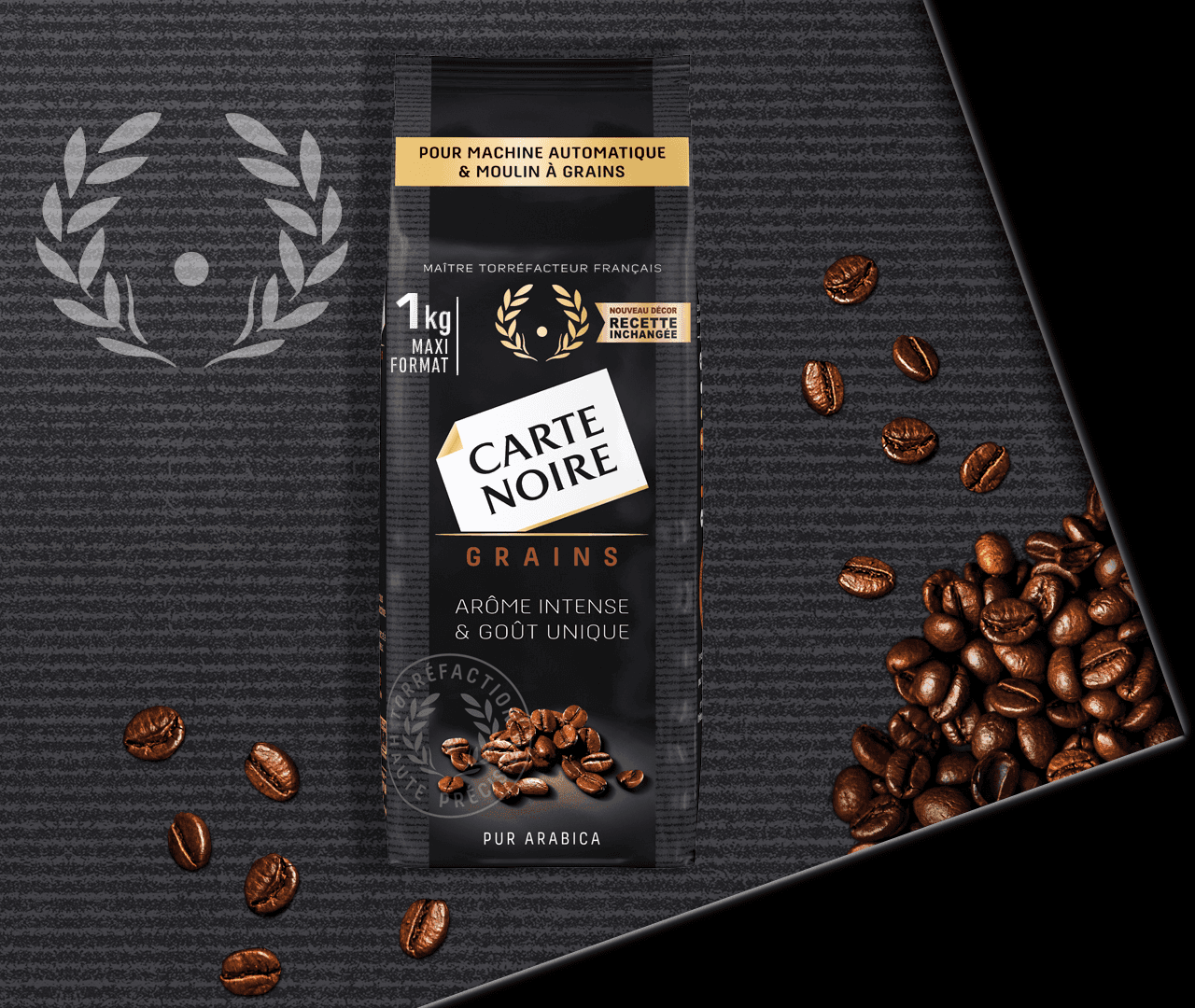 GRAINS CLASSIQUE - Café en grains torréfié 1KG