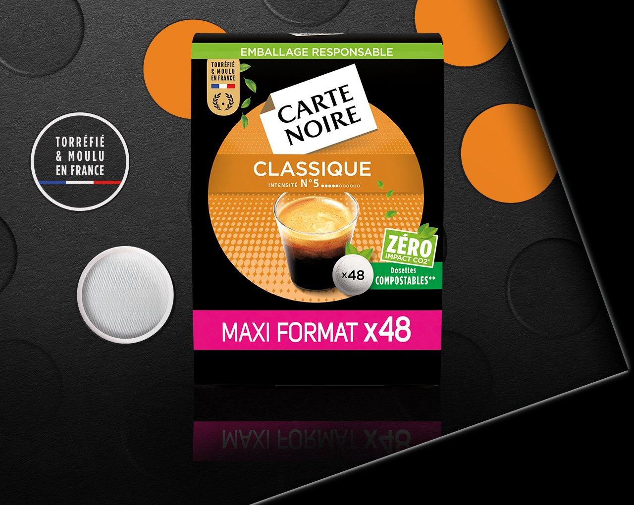 N°5 CLASSIQUE - Café torréfié moulu en dosettes individuelles souples
